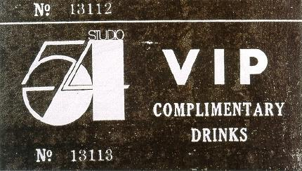 Studio 54 Ticket